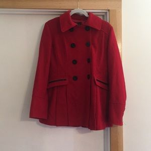 Red Skirted Pea Coat